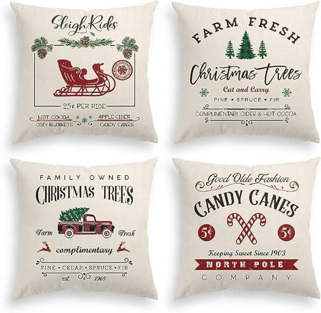 Christmas Throw Pillow Cover Set