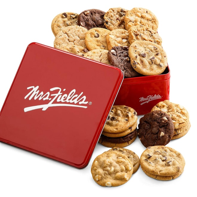 Mrs. Fields Cookies Two Full Dozen Signature Cookie Tin