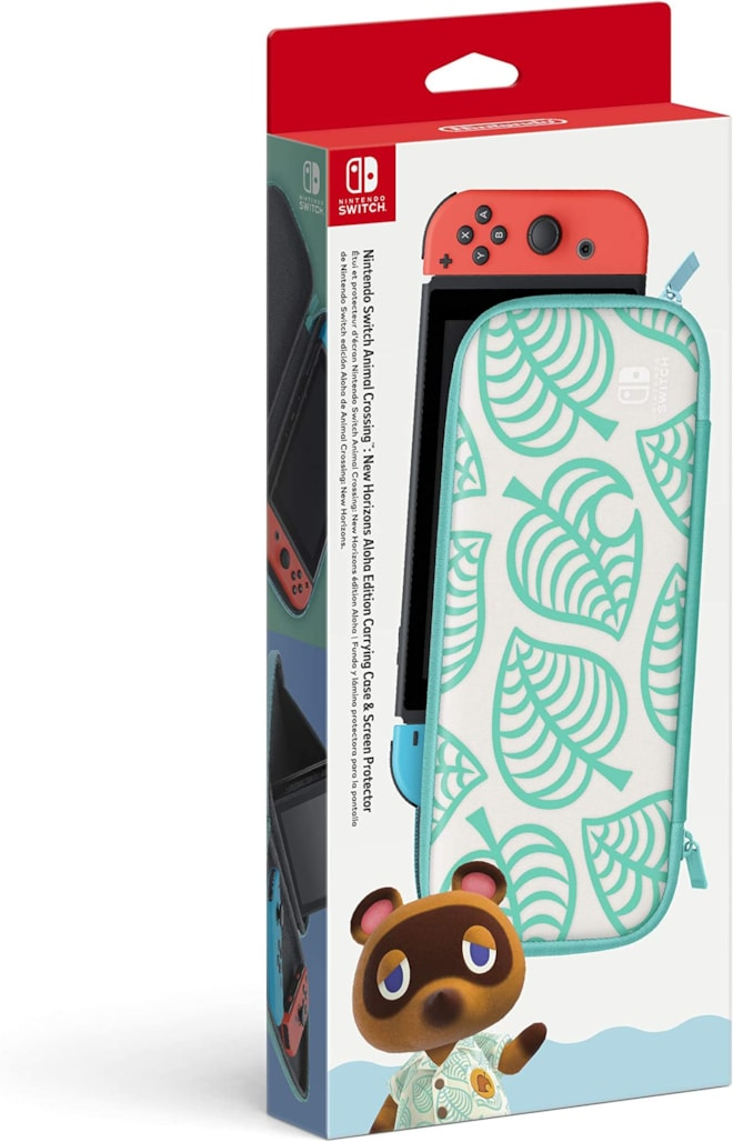 Animal Crossing: New Horizons Aloha Edition Carrying Case & Screen Protector - Nintendo Switch