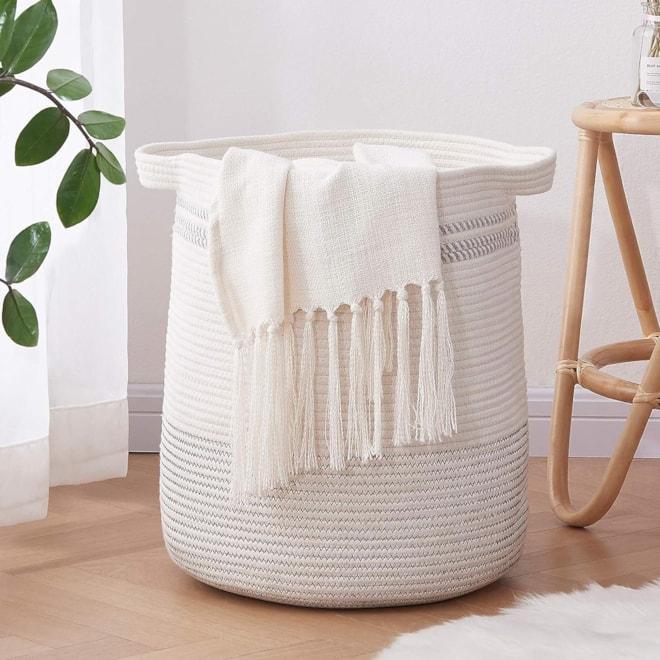 Laundry Basket-Cotton Rope Basket