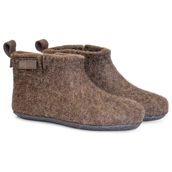 BureBure Felted Wool Ankle Boot Slippers for Men