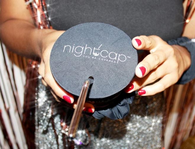 Spiking Prevention NightCap Drink Cover Scrunchie