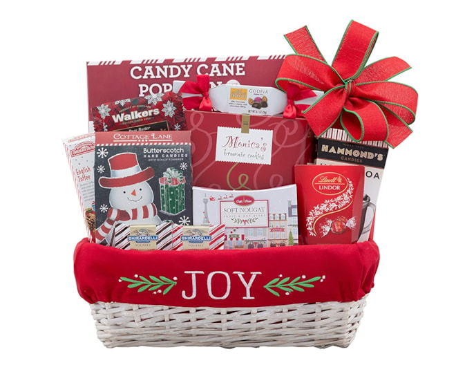 Wine Country Gift Baskets Joy to the World Holiday Gift Basket