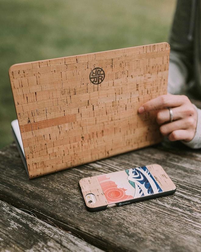 Cork Wood iPad Case