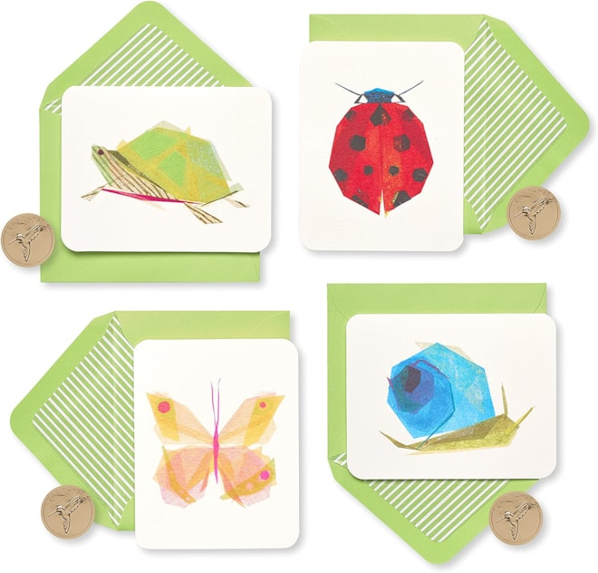 20 Piece Papyrus Blank Cards Garden Critters