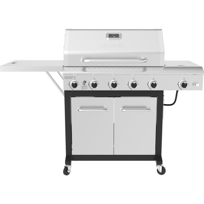 Nexgrill 5 Burner Propane Grill Stainless Steel With Side Burner