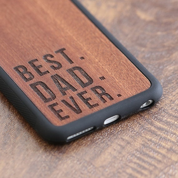 Best Dad Ever Phone Case Fathers Day Gift iPhone 6s by tmbrwood