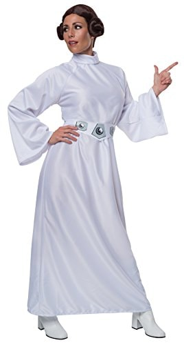 Rubie's Star Wars A New Hope Deluxe Princess Leia Costume,White,One Size