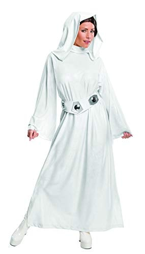 Rubie's Women's Star Wars Classic Deluxe Princess Leia Adult Sized Costumes, White, Small US