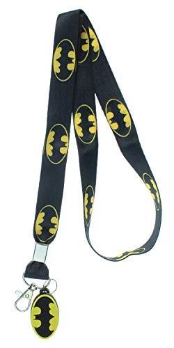 Batman Lanyard with ID Badge Holder and Rubber Bat Charm
