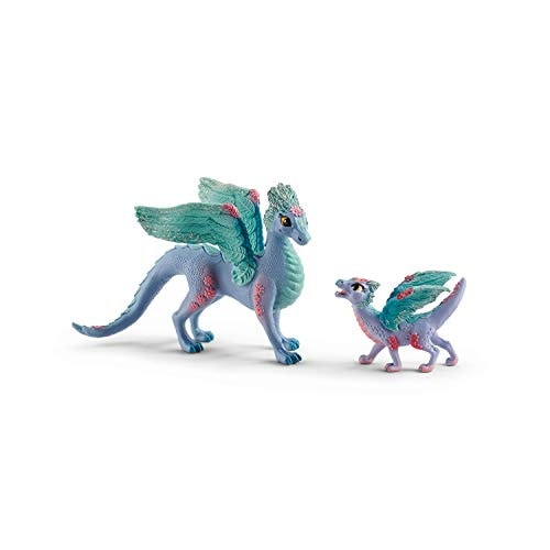 SCHLEICH bayala, 2-Piece Playset, Dragon Toys for Girls and Boys 5-12 Years Old, Flower Dragon and B