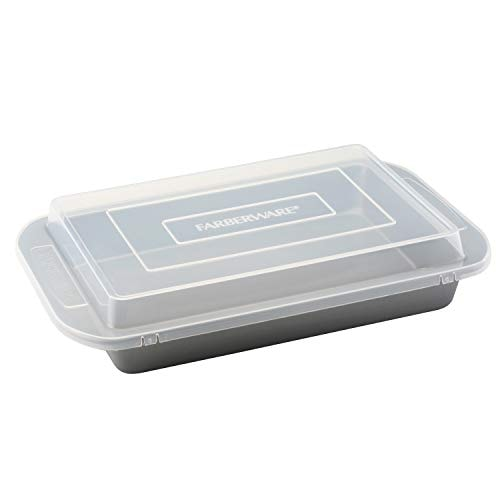 Farberware Nonstick Bakeware Baking Pan With Lid / Nonstick Cake Pan With Lid, Rectangle - 9 Inch x