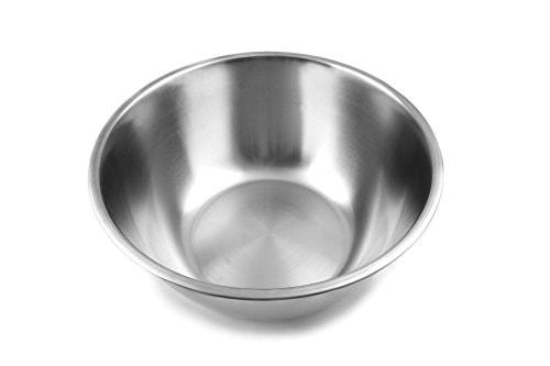 Fox Run Large Mixing Bowl, 14.25 x 14.25 x 6.25 inches, Metallic