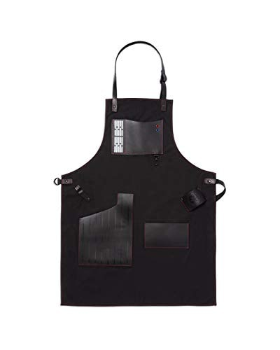 W&P Limited Star Wars Collection Apron, Premium Leather, Darth Vader, For Bartending, Baking, BBQ Gr