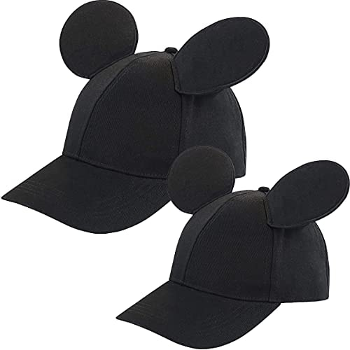 Disney Toddler Mickey Mouse Ears Hat, Set of 2 for Daddy and Me, Matching Adult and Little Boy Baseb