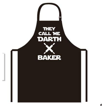 new creative darth baker apron kitchen cooking baking bbq apron for men and women  bring your dinner