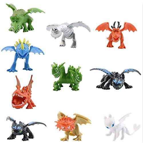 How to Train Your Dragon Dragon Toys Mini Figures - Action Figures 10 pcs 5-6.5cm PVC Action Figures