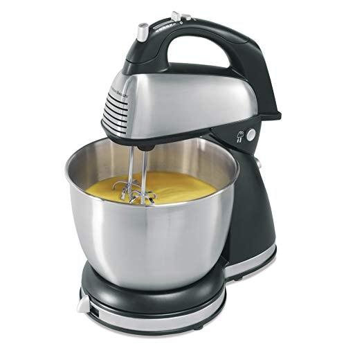 Hamilton Beach Classic Hand and Stand Mixer, 4 Quarts, 6 Speeds with QuickBurst, 290 Watts, Bowl Res