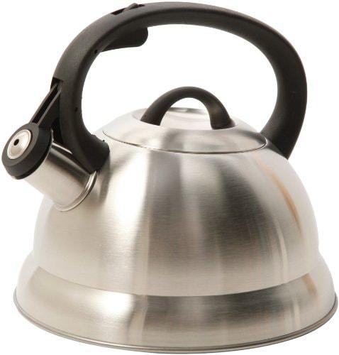 Mr. Coffee Flintshire Stainless Steel Whistling Tea Kettle, 1.75-Quart, Brushed Satin