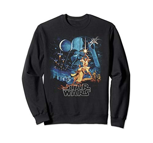 Star Wars A New Hope Faded Vintage Poster Sweatshirt