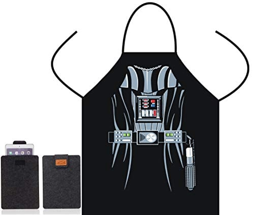 Star Wars Character Black Apron-Funny Cute Apron for Girl Women Lady BBQ Kitchen Chef Cooking Bib Ap