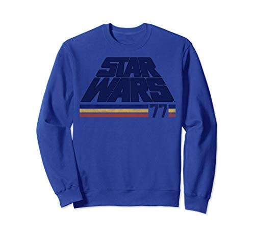 Star Wars Classic Retro Slanted Logo Striped '77 Sweatshirt