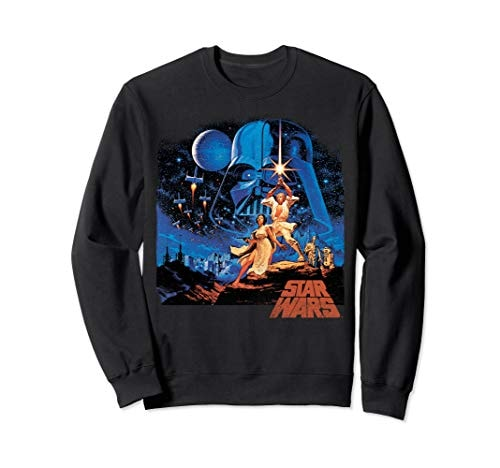 Star Wars A New Hope Classic Vintage Poster Sweatshirt