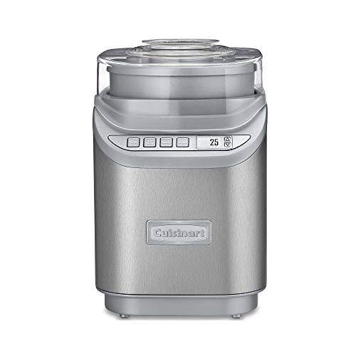 Cuisinart ICE-70 Electronic Ice Cream Maker, Brushed Chrome, Ice Cream Maker with Countdown Timer, W