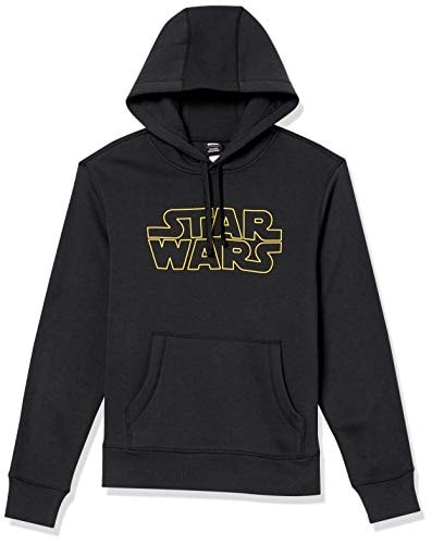 Amazon Essentials Men's Disney Star Wars Marvel Fleece Pullover Hoodie Sweatshirts, Star Wars Logo,