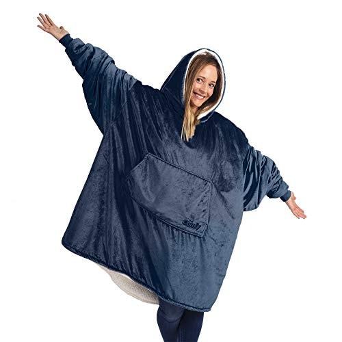 THE COMFY Original | Oversized Microfiber & Sherpa Wearable Blanket, Seen On Shark Tank, One Size Fi