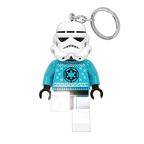 Lego Star Wars Stormtrooper Ugly Sweater Keychain Light - 3 Inch Tall Figure