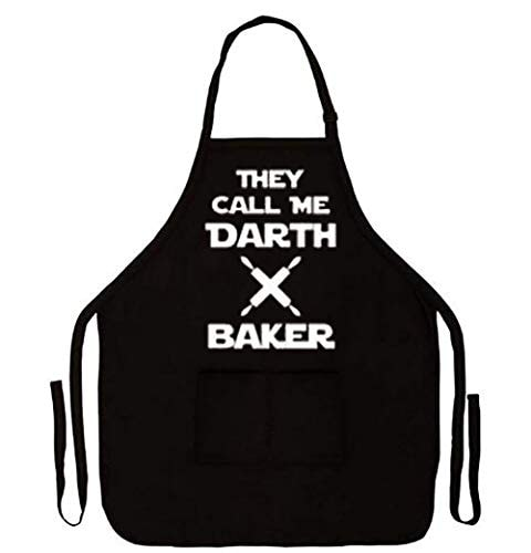 IDOXE Funny BBQ Grilling Aprons for Men Women Baking Waffle Darth Barber Vader Boyfriend Fathers Day