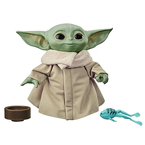 STAR WARS The Child Talking Plush Toy with Character Sounds and Accessories, The Mandalorian Toy for