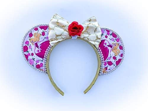 Sleeping Beauty Mouse Ears - Aurora Mouse Ears - Mouse Ears - Handmade Mouse Ears