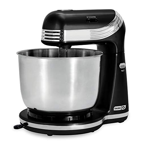 Dash Stand Mixer (Electric Mixer for Everyday Use): 6 Speed Stand Mixer with 3 qt Stainless Steel Mi