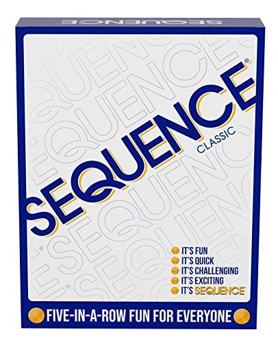 SEQUENCE- Original SEQUENCE Game with Folding Board, Cards and Chips by Jax ( Packaging may Vary ) W