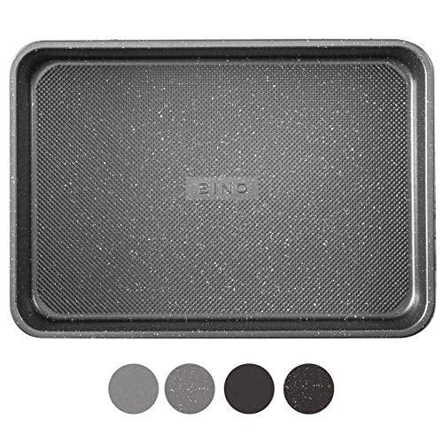 BINO Bakeware Nonstick Baking Pan, 9 x 13 Inch - Speckled Gunmetal | Premium Quality Textured Cake P
