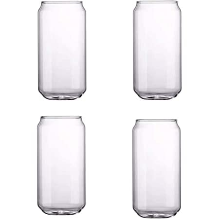 Can Shaped  Glass - 20 oz - 4 PACK, B set of 4