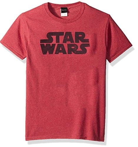 Star Wars Mens Simplest Logo Graphic Tee, RED Heather, Medium
