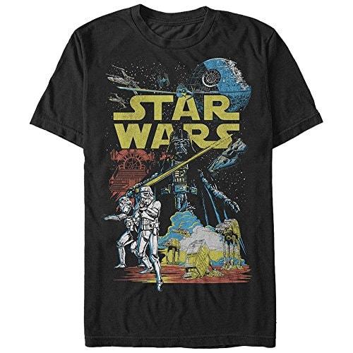 Star Wars Men's Rebel Classic Graphic T-Shirt, Black, XL