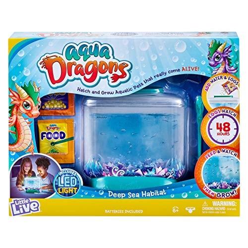 Little Live Aqua Dragons - Deep Sea Habitat - LED Light Up Tank Hatch and Grow Aquatic Pets