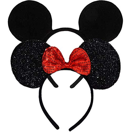 Mouse Ears, FANXIER 2 Pcs Mice Ears Headbands Hair Band for Children Mom Baby Boys Girls Birthday Pa
