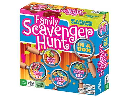 Family Scavenger Hunt In A Box by Outset Media - Indoor and Outdoor Seek And Find Board Game with 28