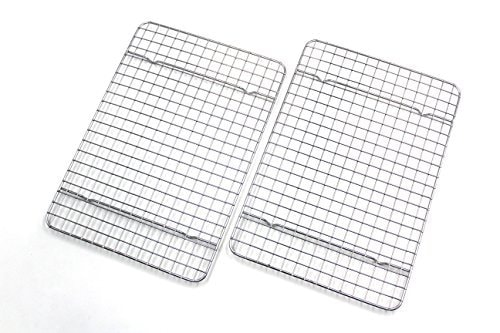 Checkered Chef Cooling Racks For Baking - Quarter Size - Stainless Steel Cooling Rack/Baking Rack Se