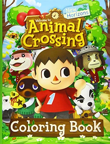 Animal Crossing New Horizons Coloring Book: Animal Crossing New Horizon Adults Coloring Books! (Stre
