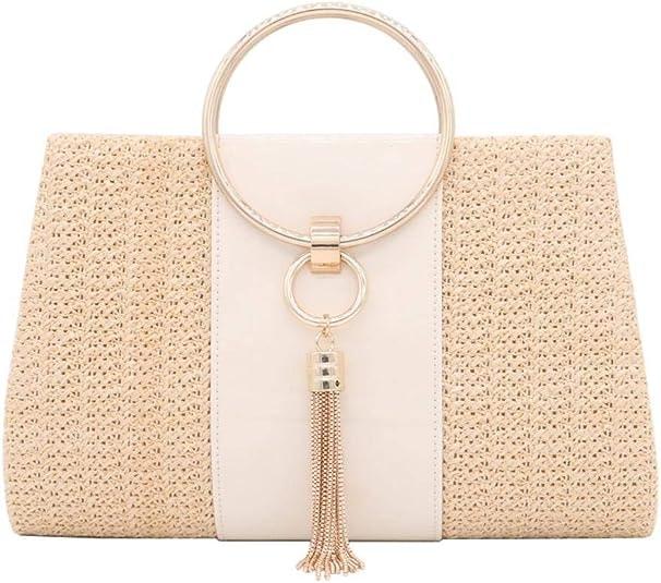 Straw Crossbody Handbag Evening Bag Clutch Purses
