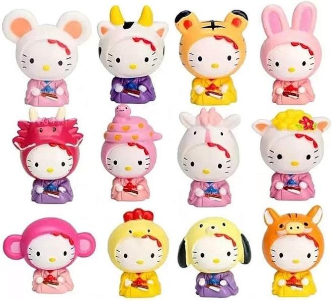 Cute Cartoon 12 Chinese Zodiac Toys Figurine Playset
