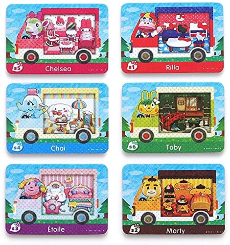 6PCS NFC Amiibo Rare RV Villager Furniture Cards for Animal Crossing New Horizons,New Horizons Villa