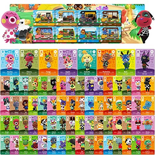 80 Pcs NFC Mini Cards for Animal Crossing New Horizons for Switch/Switch Lite/Wii (Set F #73-144 + R
