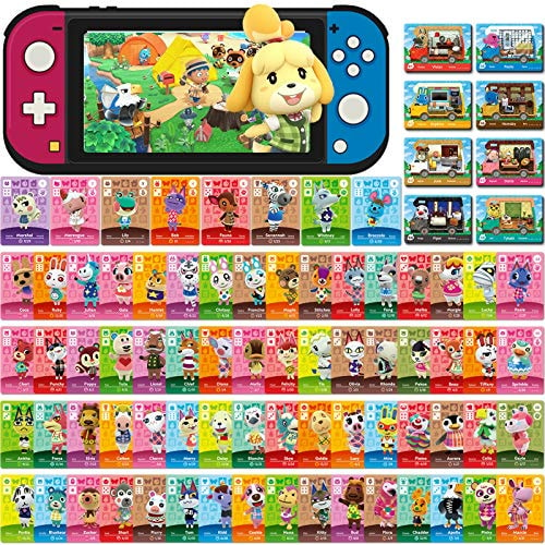 80 Pcs NFC Mini Cards for Animal Crossing New Horizons for Switch/Switch Lite/Wii (Set C #1-72 + RV#